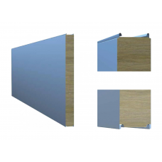 Сэндвич-панель ТПК стеновая МВ открытый замок 100х1000 мм