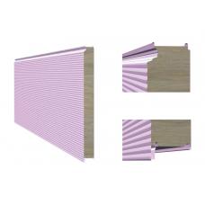 Сэндвич-панель ТПК стеновая МВ закрытый замок 80х1000 мм