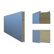 Сэндвич-панель ТПК стеновая МВ открытый замок 80х1180 мм