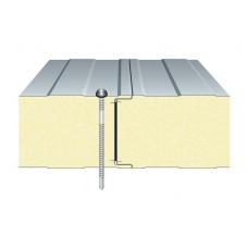 Сэндвич-панель ТПК стеновая ППС открытый замок 100х1000 мм