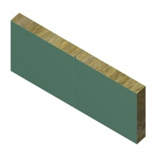 Сэндвич-панель ТПК стеновая МВ термо замок 120х1000 мм